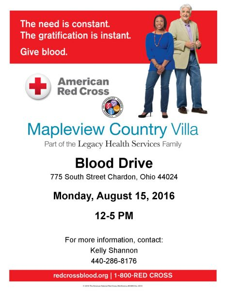 Blood Drive, August 15