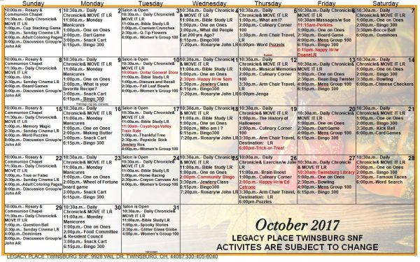 10+ Cool October 2017 Calendar Template Free …