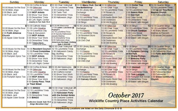 October calendar 2017 kalnirnay